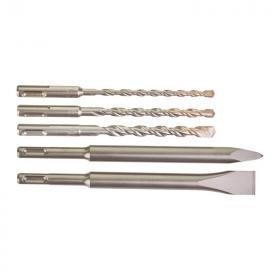 4932430002 - Zestaw wierteł i dłut SDS-Plus M2, 6 - 10 mm (5 szt.)