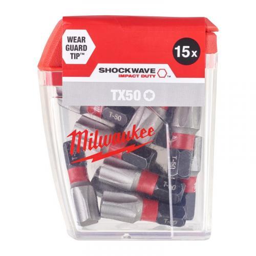 4932430892 - Bit udarowy Shockwave do śrub Torx, TX50 x 25 mm (15 szt.)
