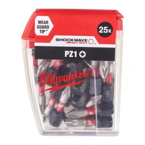 4932430861 - Bit udarowy Shockwave do śrub Pozidriv, PZ1 x 25 mm (25 szt.)