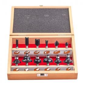 4932451668 - Zestaw frezów do drewna z trzpieniem 8 mm (12 szt.)