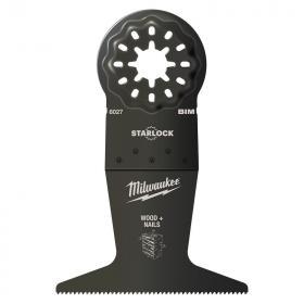 48906027 - Brzeszczot bimetalowy do Multitoola do cięcia wgłębnego drewna z gwoździami, 65 x 42 mm (1 szt.)