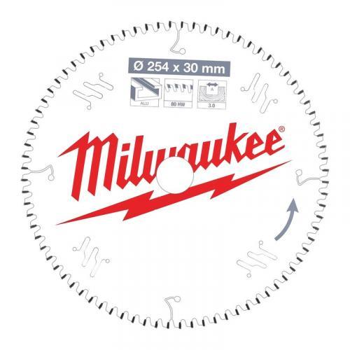 4932471318 - Tarcza pilarska do aluminium, czyste cięcie 254 x 30 mm, 80 zębów