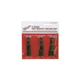 49663004 - Zestaw magnetycznych nasadek 6-kątnych, 6 - 10 mm (3 szt.)