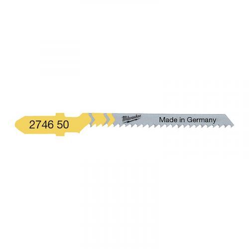 4932274650 - Brzeszczot do wyrzynarki do cięcia po łuku w drewnie, 50 mm (5 szt.)