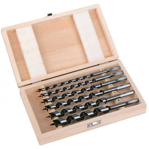 4932373380 - Zestaw wierteł krętych do drewna, uchwyt Hex, 8 - 18 mm (6 szt.)