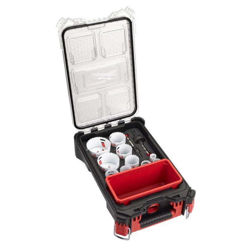 4932472248 - Zestaw otwornic bimetalowych HOLE DOZER, 20 - 76 mm, w walizce PACKOUT (12 szt.)